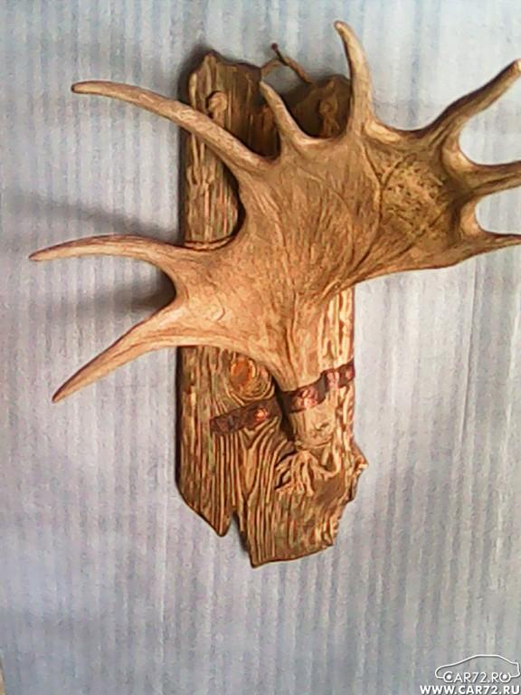 Рога из дерево как сделать