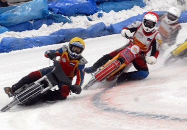 мотоспидвей  мотогонки на льду